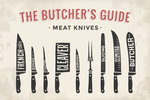 etalen Bord The Butcher's Guide Meat Knives