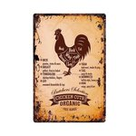Metalen Bord Butcher's Selection Chicken Cuts