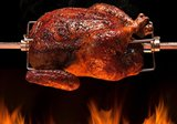 Kamado rotisserie – Spit on fire Medium