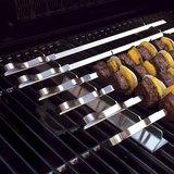 BarbecueXXL SR BBQ Kebab Grill Rack Met 6 Breed Spiesjes