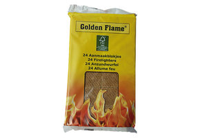 Golden Flame Bruine Aanmaakblokjes 24 stuks