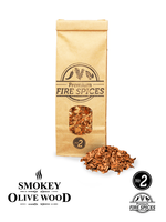 Smokey Olive Wood Olijf Rookchips Nº2 & vuurkruiden 500 ml